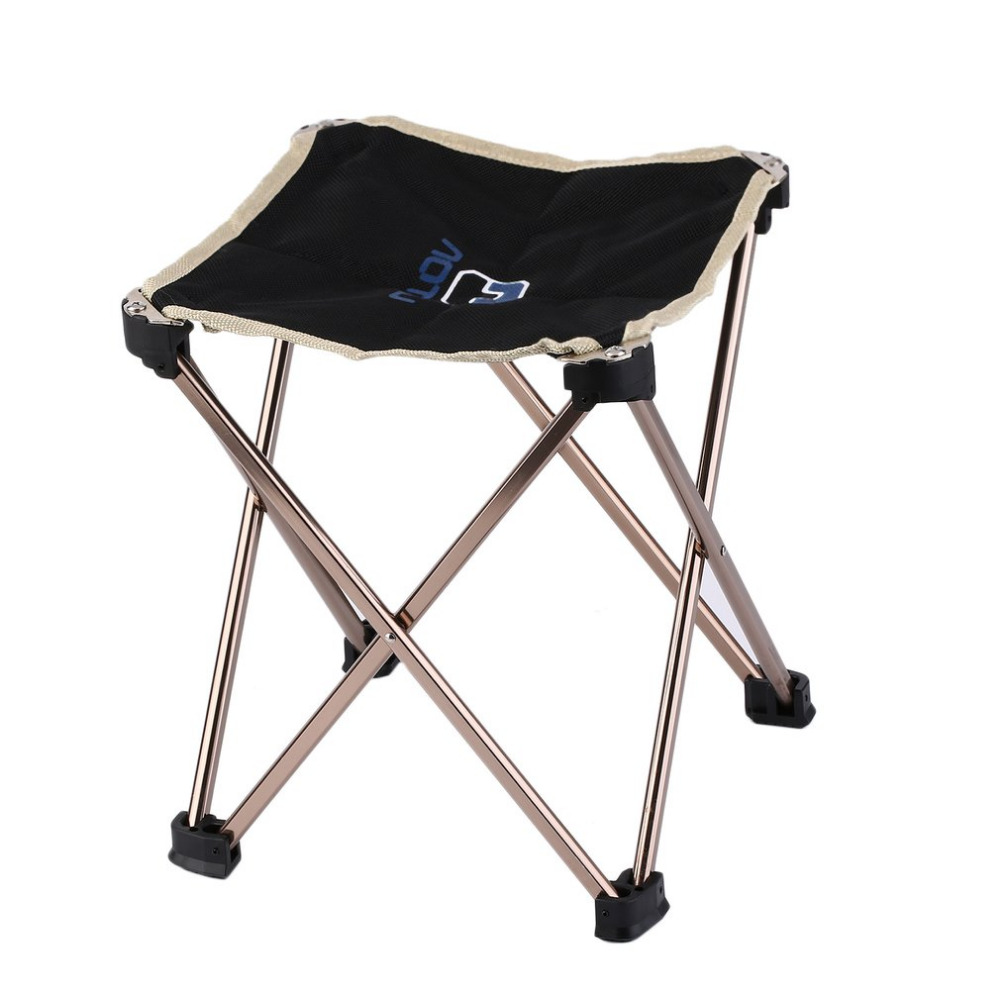 Aluminium Alloy Outdoor Foldable Chair Four Legs Fishing Picnic BBQ Garden Chair Seat Durable Square Camping Stool  23*23*25cm lengthen portable foldable fishing chair seat lightweight camping stool for outdoor fishing festival picnic bbq beach chairs