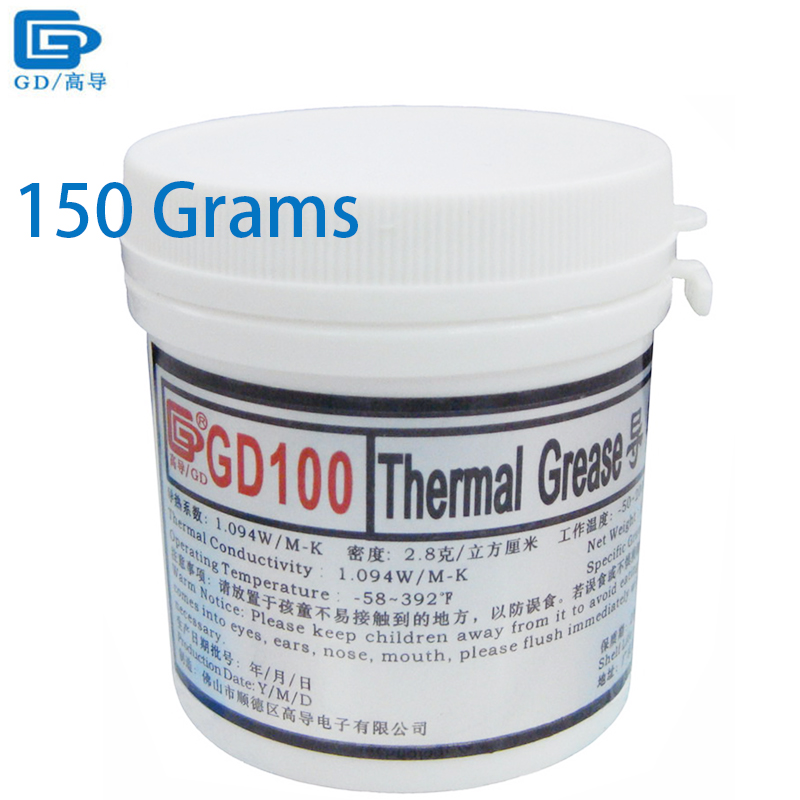 Computer & Office Gd Brand Heat Sink Plaster Compound Gd100 Thermal Conductive Grease Paste Silicone Net Weight 150 Grams White For Cpu Led Cn150 Computer Components