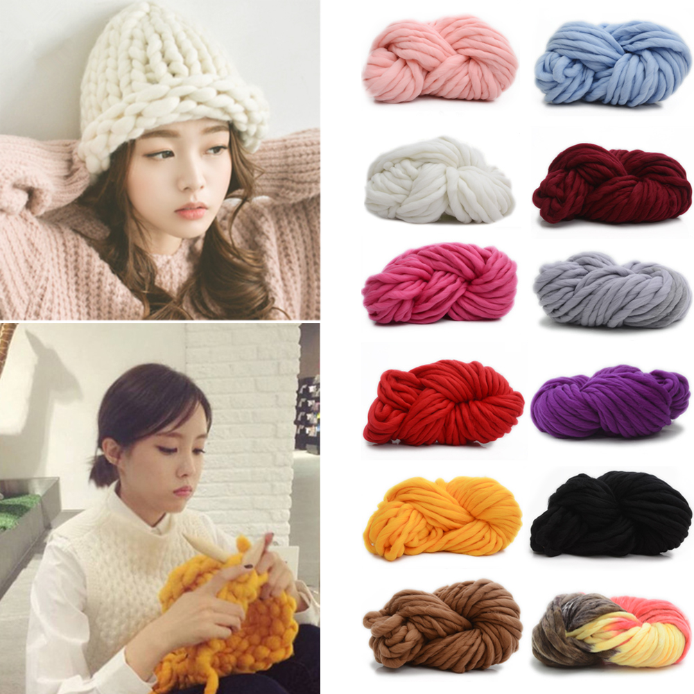 WITUSE Hot Sale! 1PC DIY Knitting Woolen Cotton Yarn For Snood Collar Crochet Thread Super Thick Warm 250g Colorful