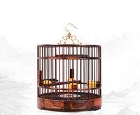 לאוס RoseWood מוצקים אדום עץ קישוט בית קן אספקת ציפור כלוב ציפורים כלוב ציפורים עתיק קלאסי רטרו Chinses אומנויות & אמנות