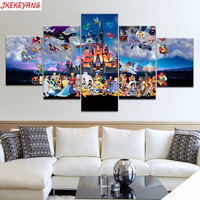 5pcs full square mosaic,5d diamond painting Disney cartoon characters diy diamond embroidery crafts home decoration Y3133