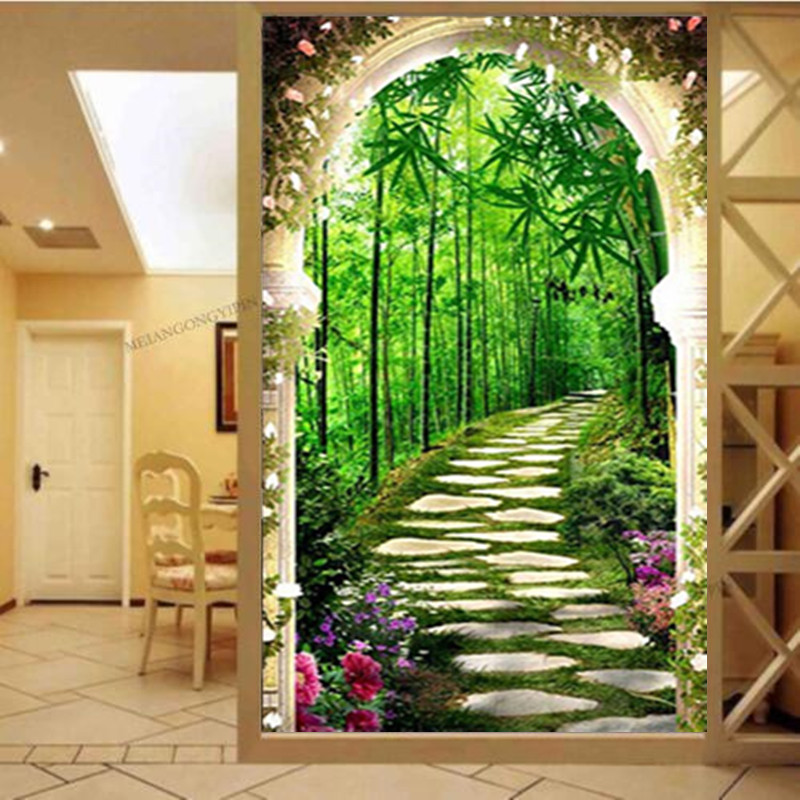 Diy 5d diamond painting landscape flower round diamond mosaic home decoration embroidery pattern cross stitch wedding decoration in Diamond Painting Cross Stitch from Home Garden