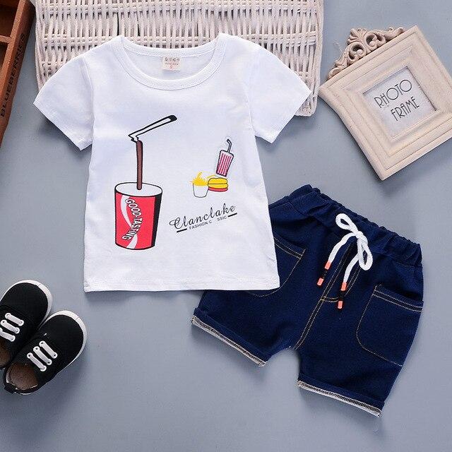 Newborn sky t-shirt and blue short for baby boy 1