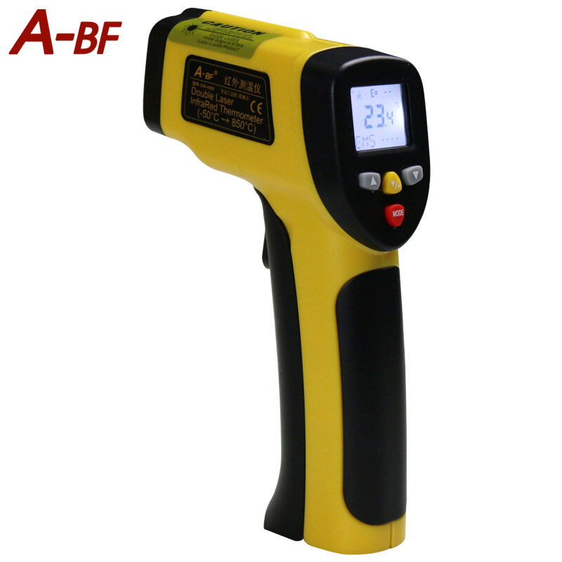 ФОТО A-BF H850 Non-Contact Professional LCD Digital infrared thermometer ir Dual laser Temperature Gun Tester Range  -50~850