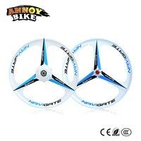 20 26 36V/48V 250W/350W lithium magnesium alloy three knife one wheel group with motor brake wheel rim wheel rotary type