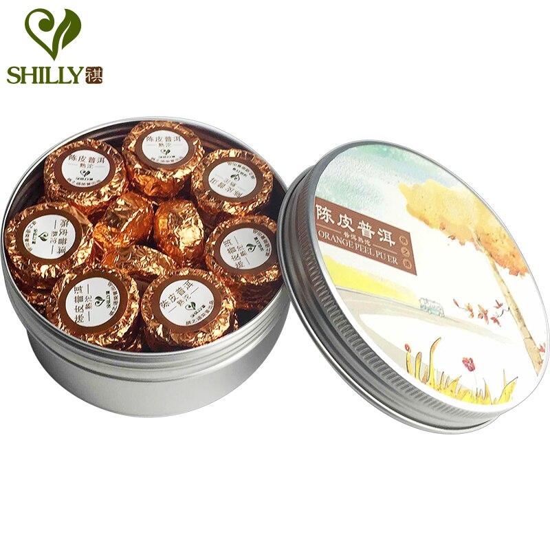100g Shu Puer Tea 17pcs Mini Tuo Cha Orange Peel F...