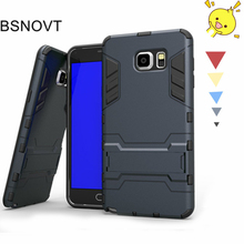 For Samsung Note 5 Case Silicone + Plastic Kickstand Anti-knock Galaxy Cover Note5 N9200