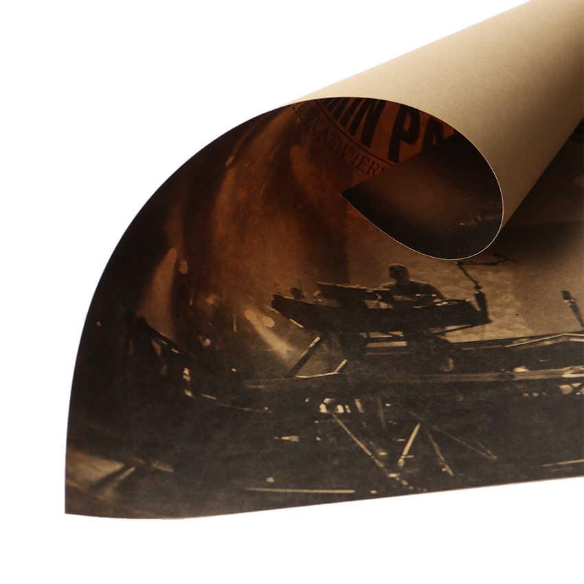 Linkin Park B Stile Poster Cafe Bar Classico Nostalgico Rock Band Autoadesivo Della Parete Casa Deco Pittura Retro Kraft Carta Da Parati di Carta