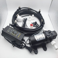 E015 (Water from Tank) 6 Mist Nozzles Pump Mist Cooling System for Aeroponice and Outdoor Cooling Fine Mist
