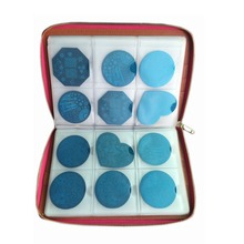Nail Art 240 Slots Stamp Plate Leather Folder/Holders/Cases Template Album Round Bag Collection Stamper