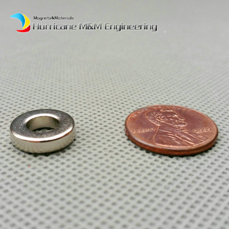 1 Pack NdFeB Magnet Ring OD 12.7x6.35x3.175 mm Diameter 1/2'' x 1/4'' x 1/8'' Strong Magnets Rare Earth Magnet strong 1 2 1 5 1 8