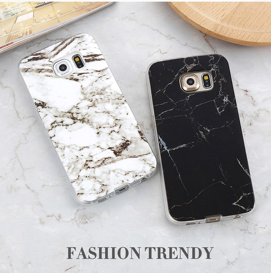 Marble Skin Case For Samsung Galaxy S8 Plus S7 S6 Edge S4 Soft Silicon Phone Cases (2)