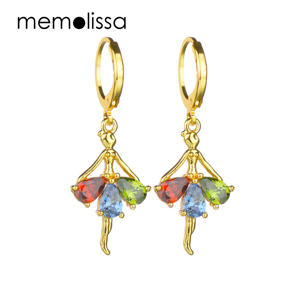 Mms Colorful Acrylic Dangle Earring Stainless Steel Luxury Shiny Dancer Crystal Drop Earrings Jewelry In From Accessories On
