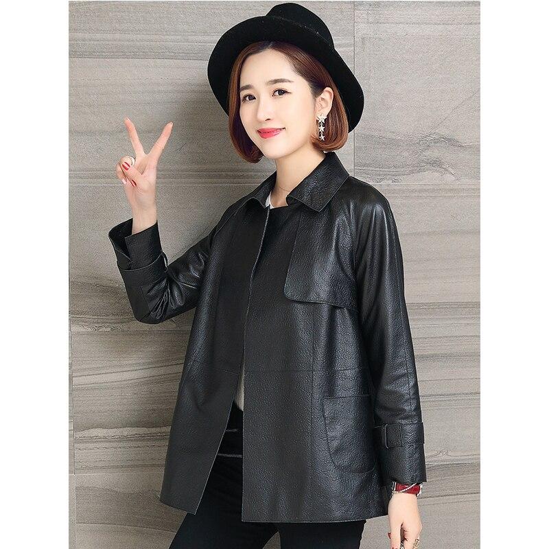 Women's Fur Coat Real Genuine Leather Jacket Women Clothes 2019 100% Sheepskin Coat Spring Korean Vintage Elegant Outwear ZT2304