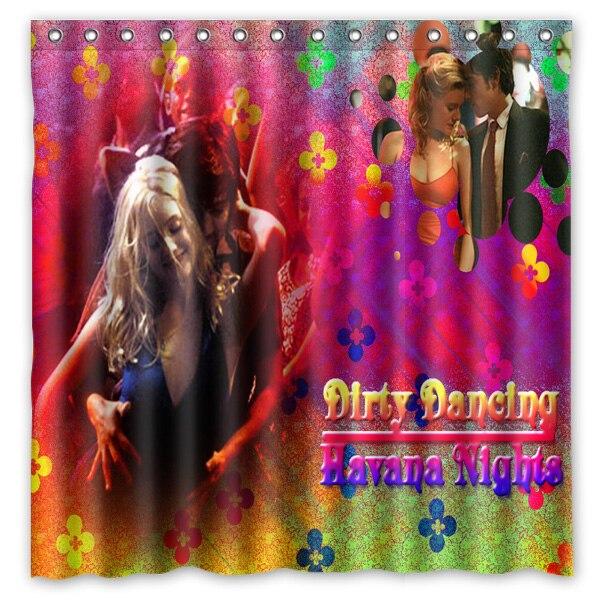 High Quality Custom Waterproof Bathroom Curtains Dirty Dancing Polyester Fabric Shower Curtain 180*180cm