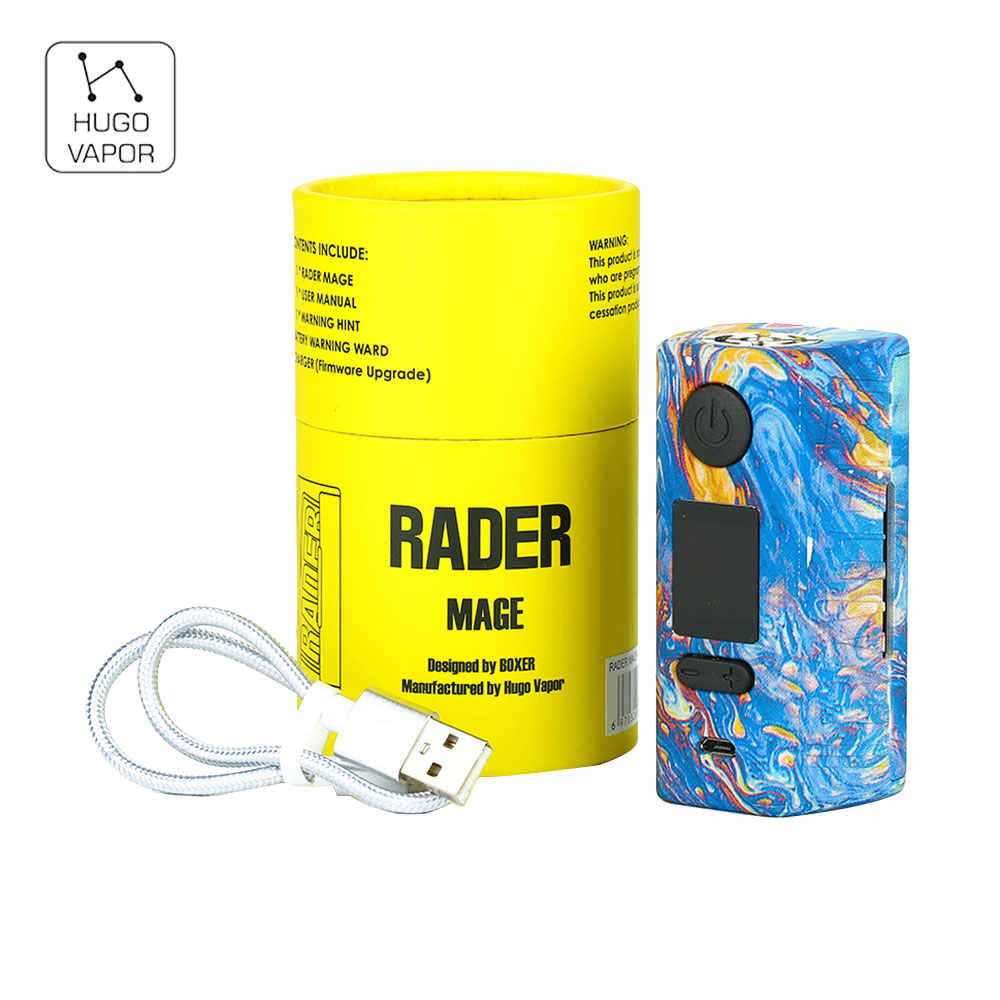 2018 New Original 218W Hugo Vapor Rader Mage TC Box MOD with Nylon Fibre Frame &  0.96-inch OLED Display NO 18650 Battery Mod