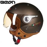 BEON NANO Motorcycle Helmet Chopper 3/4 Open Face Vintage Helmet Moto Casque Casco motocicleta Capacete Unisex Scooter helmets