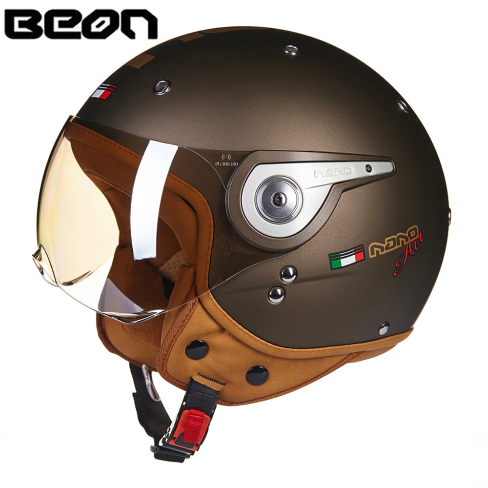 BEON NANO moto rcycle шлем Chopper 3/4 с открытым лицом винтажный шлем moto Casque Casco moto cicleta Capacete унисекс скутер шлемы