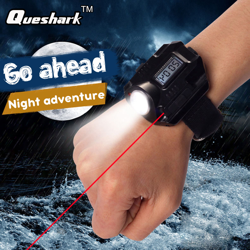 Biosafe Outdoor Waterproof Compass Led Watch Lamp Night Running Hiking Camping Built-in Battery Recharge Wristwatch Flashlight Security & Protection