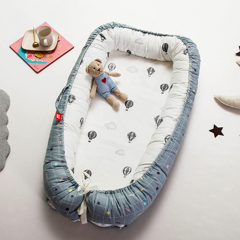 Ins Nordic Infant Nest Bed Crib Matress Bionic Bed With Bumper  Portable Baby Traveling Cot Bed Removable Cotton Kids Cradle