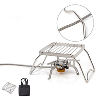 6.3'' Foldable Stainless Steel BBQ Grilling Rack Stainless steel BBQ Skewers Picnic Barbecue Cooking Tool