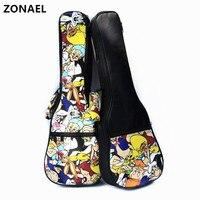 ZONAEL 21 23 24 26 Inch Ukulele Waterproof Bag Adjustable Shoulder Bag Case Backpack Use Oxford