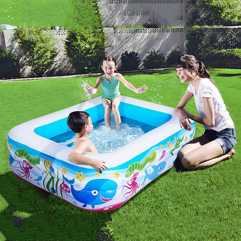 1.4~1.1m Swimming Pool Children's Home Use Paddling Pool Large Size Inflatable Square Heat Preservation Kids inflatable Pool