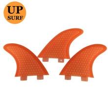 Surf fins FCS GX, G3,G5,G7 FIN  orange surfboard fins Fibreglass Honeycomb surf fins цена и фото