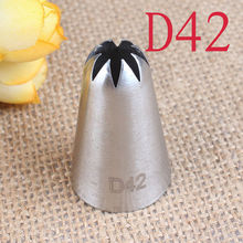#D42 Big Size Icing Nozzle Fondant Cake Cream Piping Decorating Tips Baking Pastry Tools