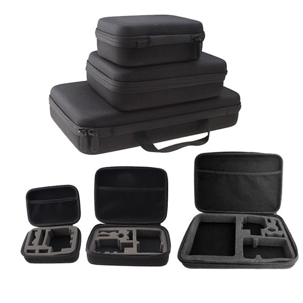 SFG HOUSE Big Medium Small Carrying Camera Bag Waterproof Storage Box Traveling Carry Case For Camera GoPro Hero 1/2/3/3+
