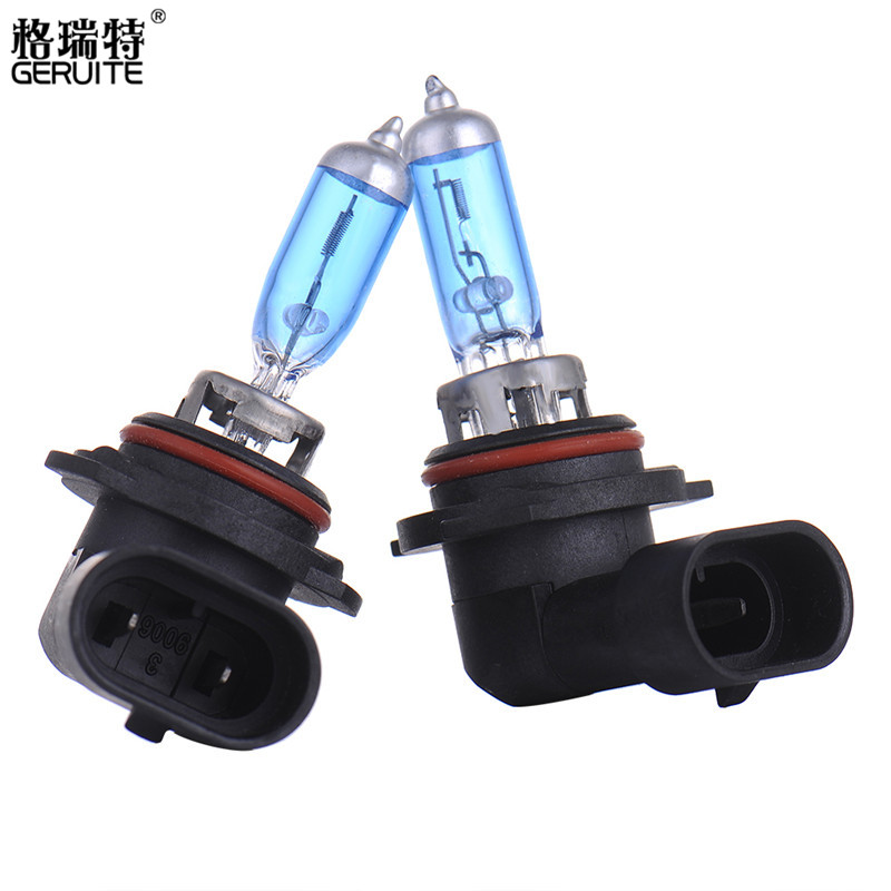 GERUITE 2pcs 9006 55W HID Lamp Super White Fog Lamps Headlights Bulb Car Head Lamp Light Led Bulbs 12V 2pcs 20w 4led hb3 9005 hb4 9006 h10 bulb car fog light car headlights lamp bulbs white 6000k dc12v 24v