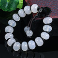High - grade fine natural jade a cargo of ice - chalcedony abacus beads beads bracelet