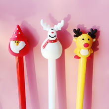Buy 3 pcs Merry christmas gel pen Snowman happy Deer Black color ink pens for writing gift Stationery Office School supplies FB064 directly from merchant!