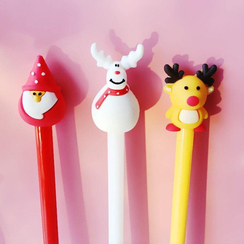 2 3 Piezas Feliz Navidad Pluma Muñeco De Nieve Ciervos Felices