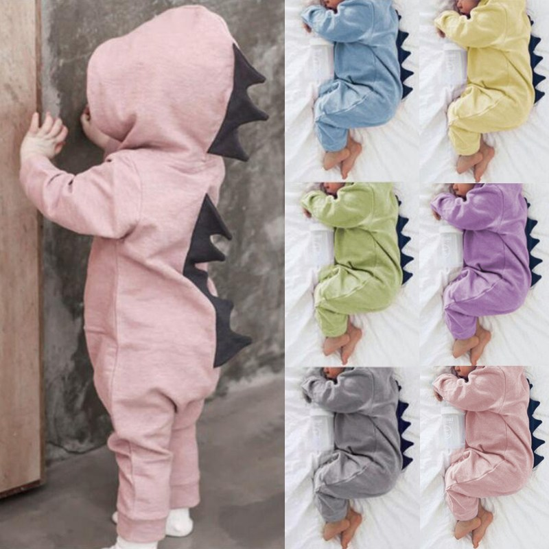 Cotton Dinosaur Baby Romper Infant Toddler 2018 Autumn Spring Newborn Baby Boy Girls Romper Jumpsuits Baby Overalls Home to Wear