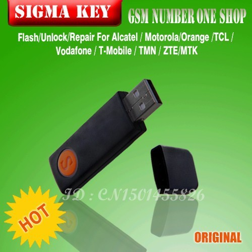 Free Shipping+100% original Sigma key sigmakey dongle for alcatel alcatel huawei flash repair unlock+ Free Shipping