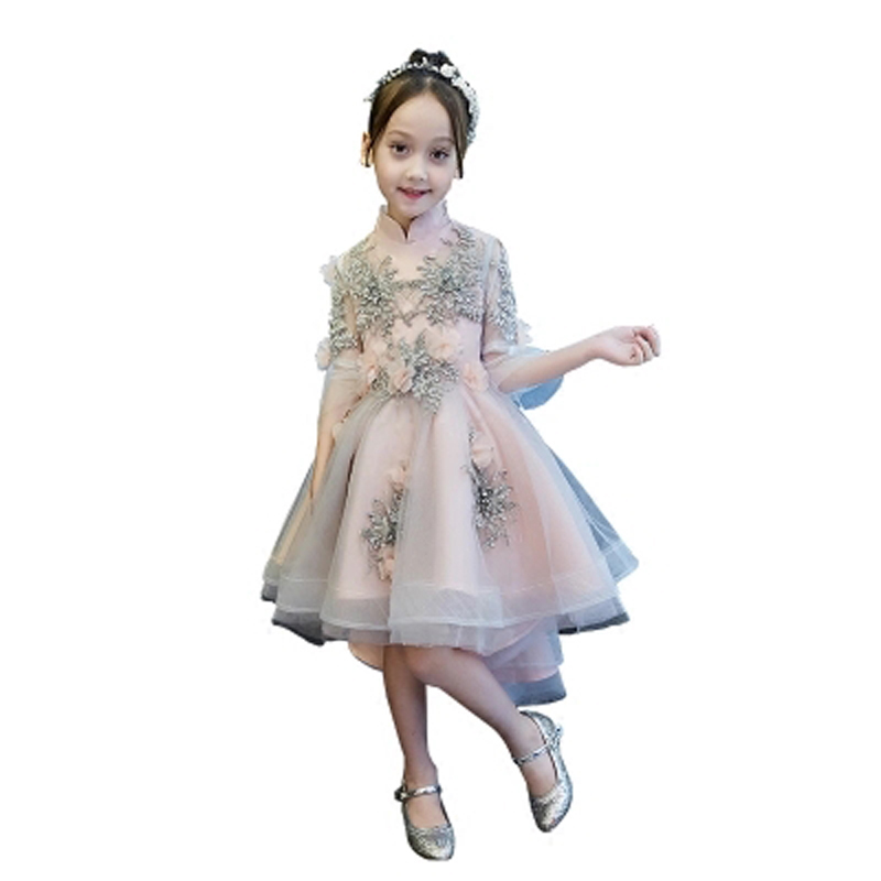 Children's Dress Birthday Evening Dress Girl Fluffy Princess Dress Flower Girl Wedding Piano Catwalk Show Costume Dresses E41 5v 5000mah li ion polymer battery power bank w stand for samsung galaxy note 4 black