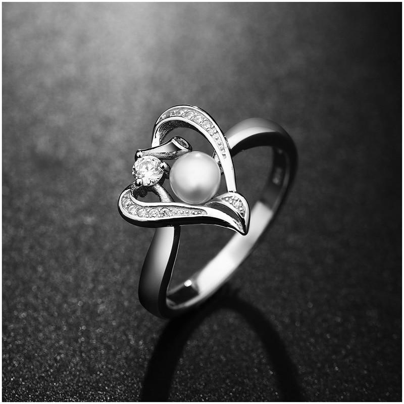 Hongye Romantisches Herz Sterling Silber Schmuck Set Perlenkette & - Edlen Schmuck - Foto 2