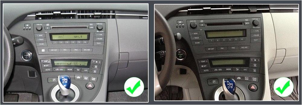 ZaiXi Android Car Multimedia player 2 Din WIFI GPS Navigation Autoradio For Toyota Prius 2009~2015 GPS Radio FM Maps BT 8