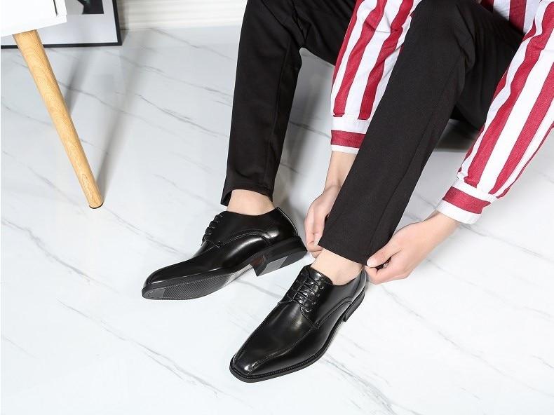 Oxford Preto Brogues Sapatos Vestido De Couro 2019 Casamento Mens Qualidade Homens Alta Para Atacadores Formais 8UFnwxqfE