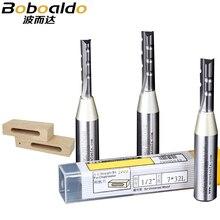 1PC 1/2 TCT Tre flauti intarsiato etero router bits acciaio di Tungsteno carburo solido strumenti di intaglio Intaglio Arden lavorazione del legno Strumento