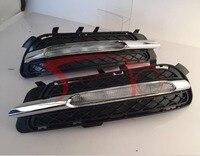 Стайлинга автомобилей LED DRL Дневные Бег свет для Mercedes Benz W212 E180 E200 E260 E320 E400 2011 2014