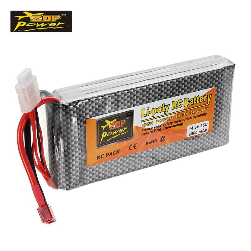 ZOP Puissance 14.8 V 6000 mah 35C 4S Lipo Batterie T Plug Rechargerble pour RC Voiture RC Avion Quadcopter Pièces les saf