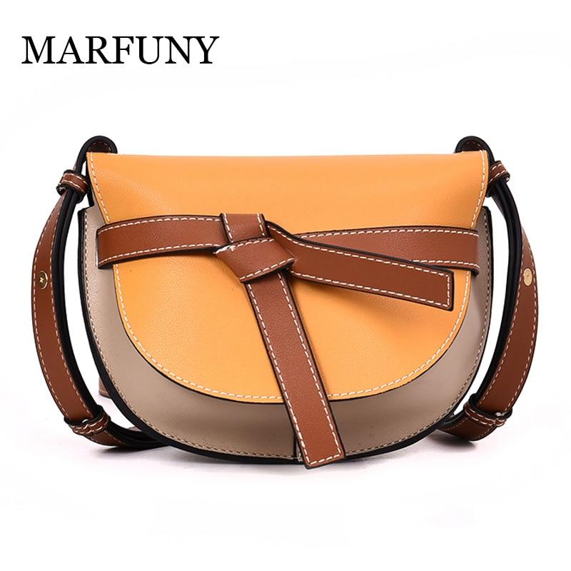 8af33c686ba MARFUNY Σακίδιο Γυναικεία Τσάντες ώμου μόδας Vintage Patchwork PU Δερμάτινη  τσάντα Crossbody Νέα ...