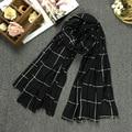 Classical Plaid Printing Scarf Women Fashion Brand Scarf Spring Autumn Bandana Unisex Warm Soft Cotton Fabric Shawls Scarves