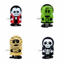 2pcs/lot New arrival Clockwork Vampire Mummy Wind Up Bounce Toy Props Toy Jumping Monster Party Halloween gift halloween chain clockwork toy ghost frankenstein vampire capsule funny joke prank wind up jumping walking toys kid gifts jm305