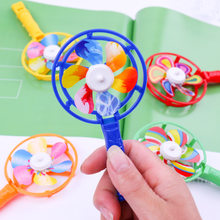 Classic Toys rainbow Color small windmill with windmill children creative color plastic windmill small gift primary school toys(China)