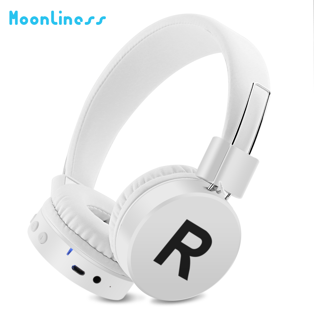 Moonliness Stereo music game Bluetooth Headphone Wireless Headsets Foldable Earbuds with Mic Bluetooth Headset rock y10 stereo headphone earphone microphone stereo bass wired headset for music computer game with mic