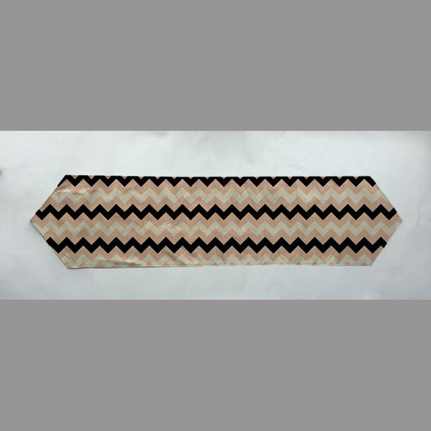 2016 New fashion geometric style linen cloth table runner minimalist modern bedside sided flag