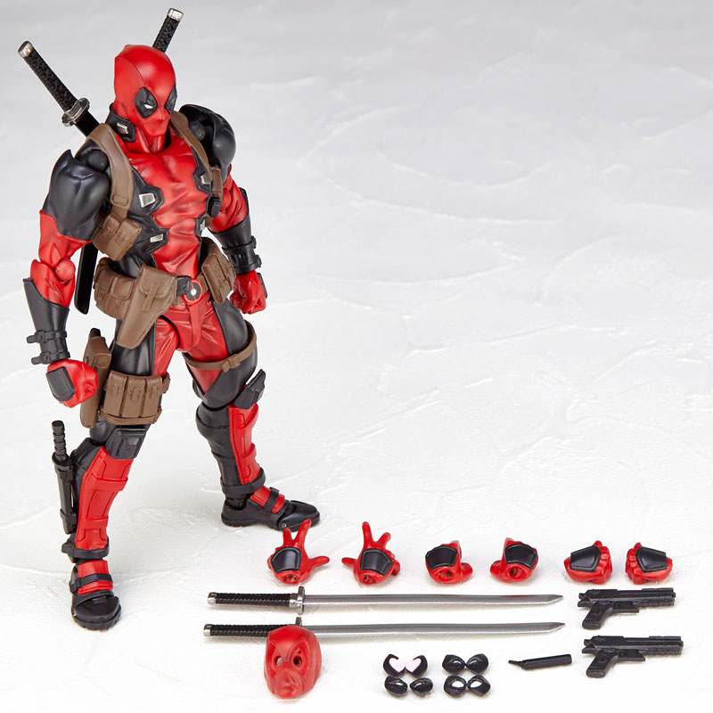 16cm Super Hero Deadpool  Action Figures Collection Model Robot Doll  For Kids Toy Gifts hot sale movie super cool deadpool action figure toy marvel deadpool display decoration doll collection children juguetes gift